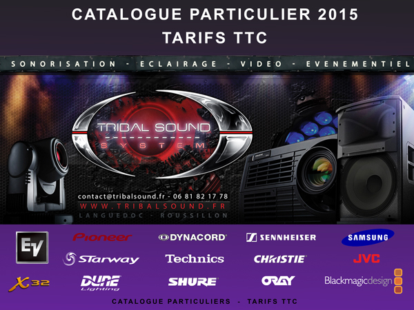 Catalogue Tribalsound Particuliers
